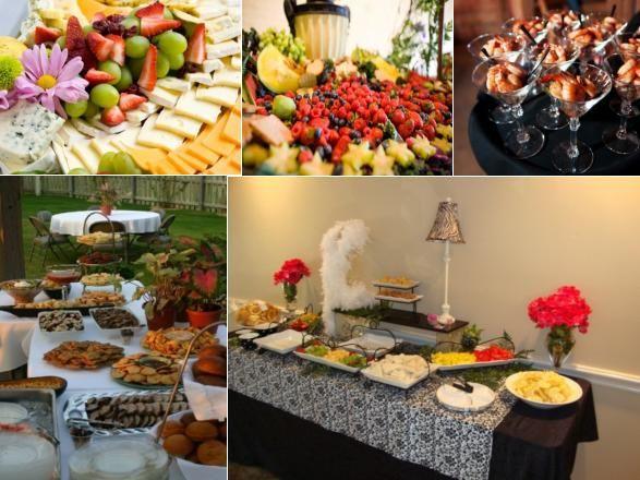 Wedding Reception Food Displays