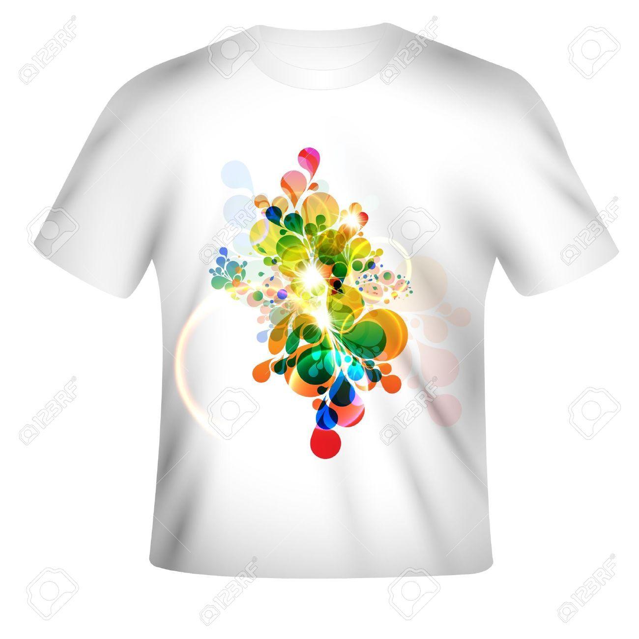 Design t shirt art - T Shirt Model T Shirt Design With Abstract Art