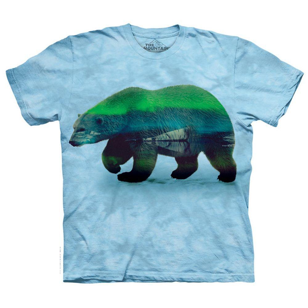 Aurora Polar Bear Classic Adult Cotton Tee 4X Blue