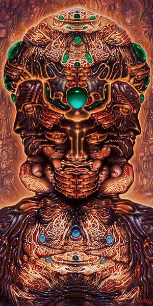 Robert Venosa #ravenectar #visionaryart #art #trippy #psychedelic #sacred / Sacred Geometry <3