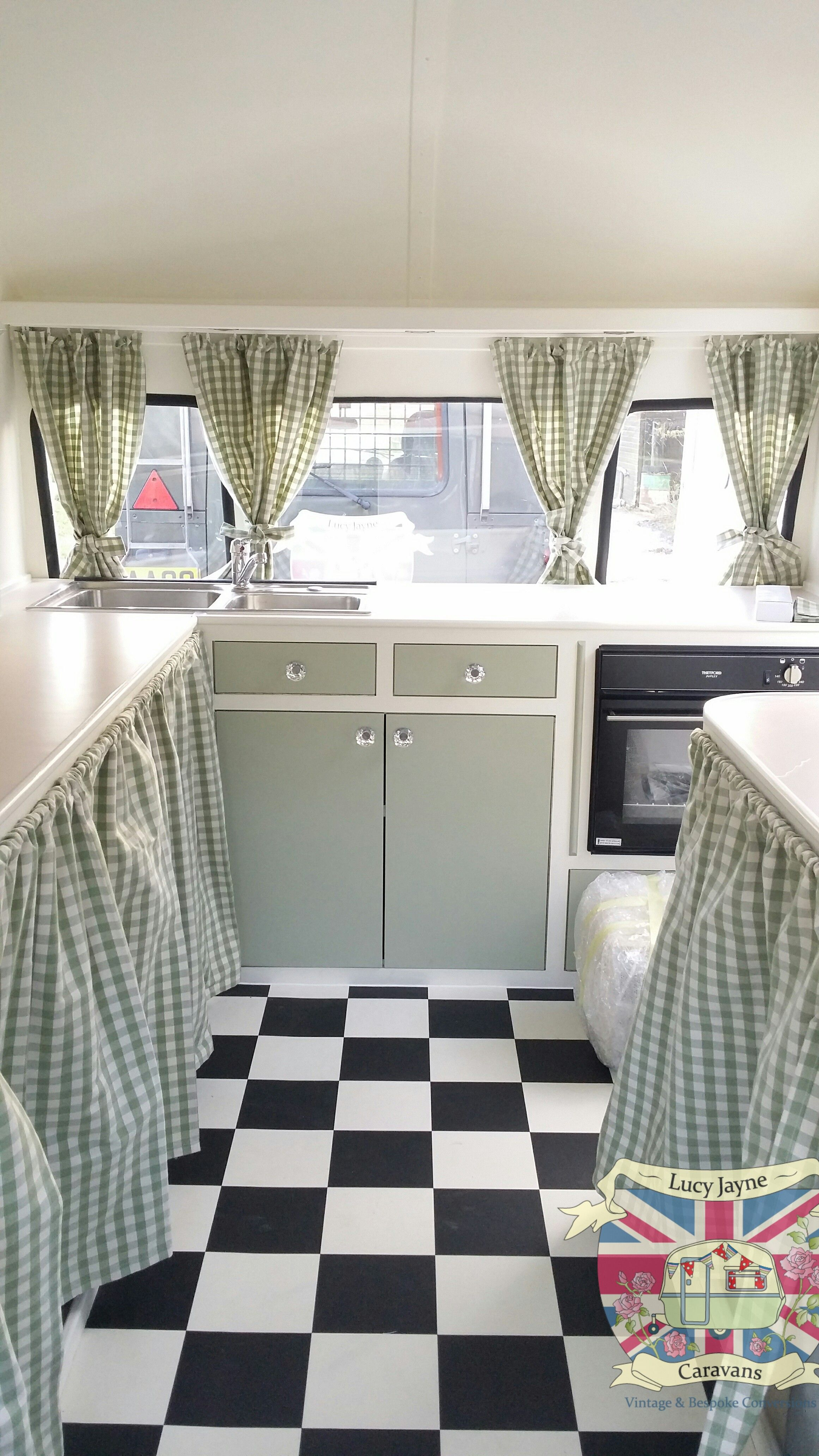 vintage caravan bespoke built soft catering interior. Black Bedroom Furniture Sets. Home Design Ideas
