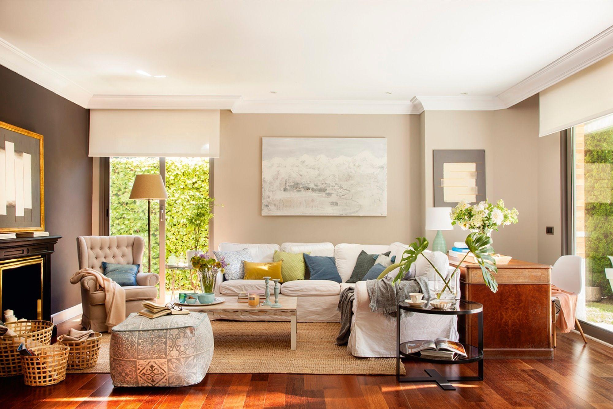Salón pintado en tonos tierra | Pinterest | Pintar la casa ...