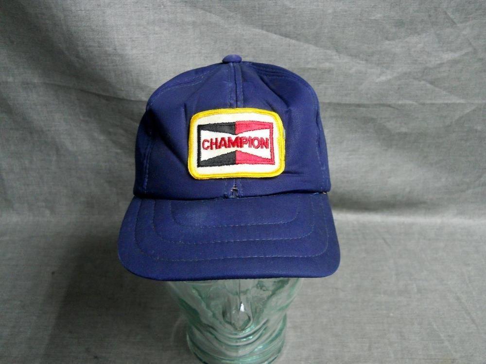a03e3704fa Vintage Champion Spark Plug Hat Cap  Champion