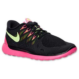 the latest 63aa3 dabb1 Women s Nike Free 5.0 2014 Running Shoes   Finish Line   Black Volt Hyper  Pink Anthracite