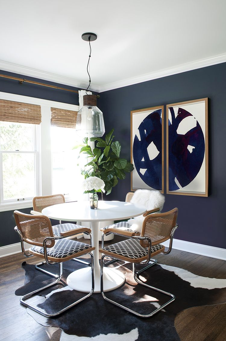 Your Design Dilemmas Solved Via Texting Navy dining rooms Large