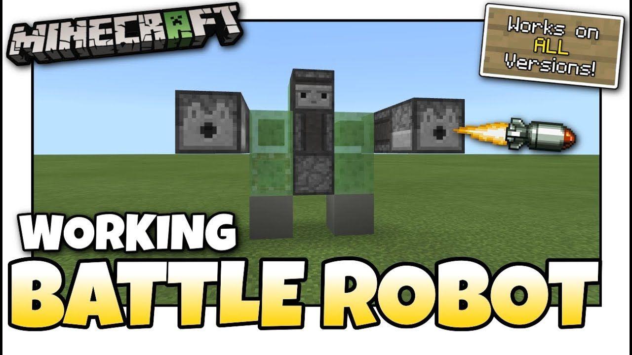 Minecraft - WALKING DEFENSE ROBOT [ Redstone Tutorial ] Works on ALL