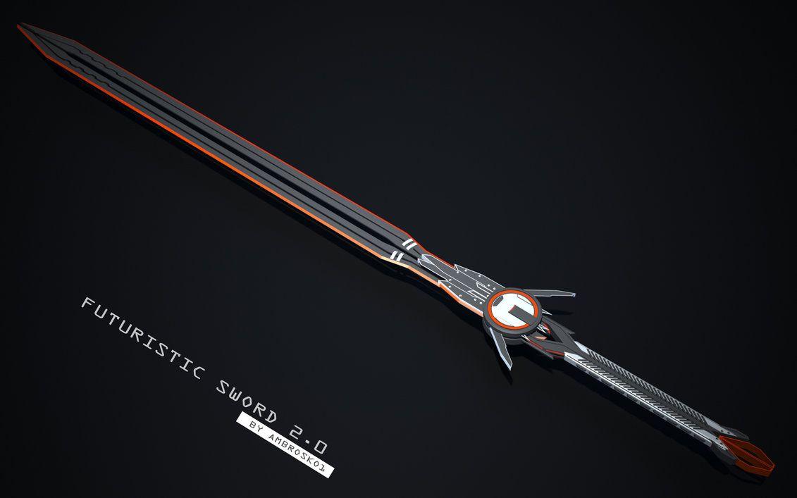 Futuristic Sword 2 0 By Ambrosko1 Weapons Melee Armas