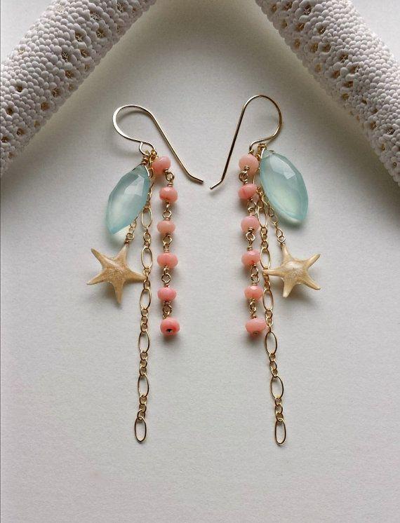 Aqua Dangle Earring