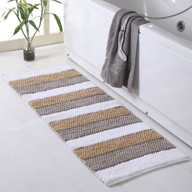Rayborn Bath Rug Bathroom Rugs Striped Bath Rug Bath Rugs