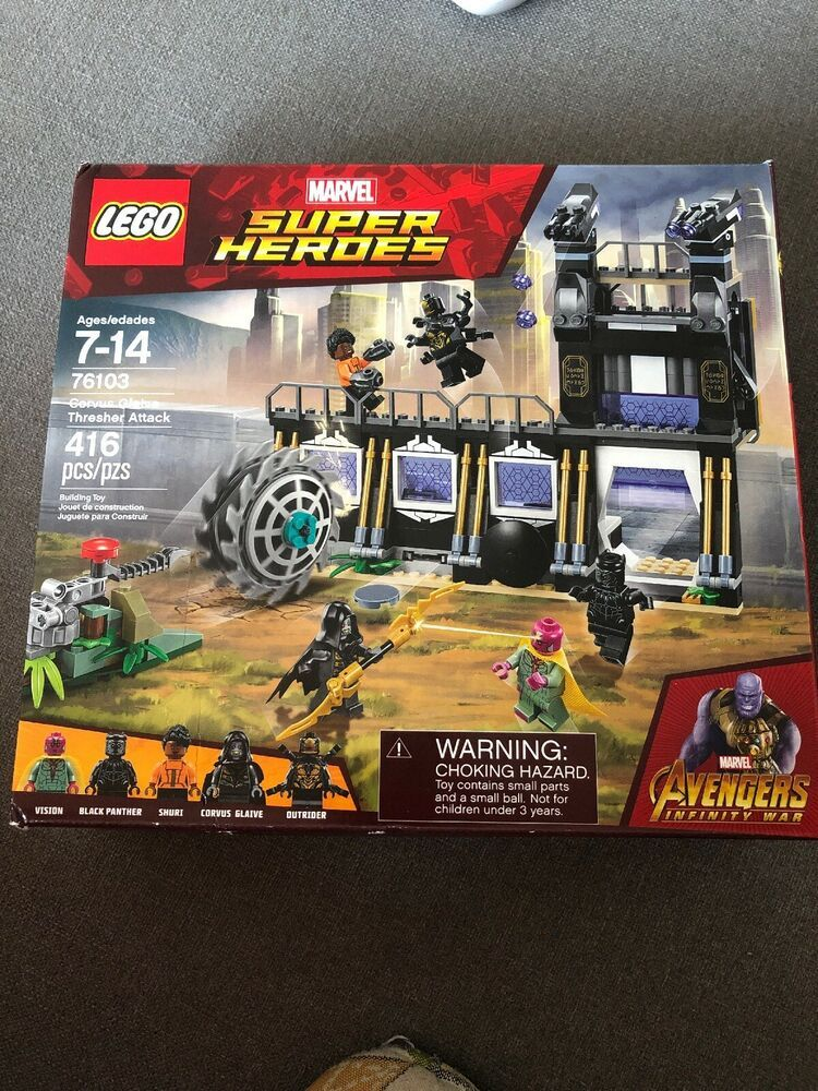 New Lego Marvel Avengers Super Heroes Corvus Glaive Thresher Attack Set 76103 Afflink Contains Affiliate Links When You Click On Links T Lego Marvel S Avengers Lego Marvel Lego Marvel Super Heroes