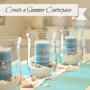 How to create a summer coastal centerpiece in a few minutes