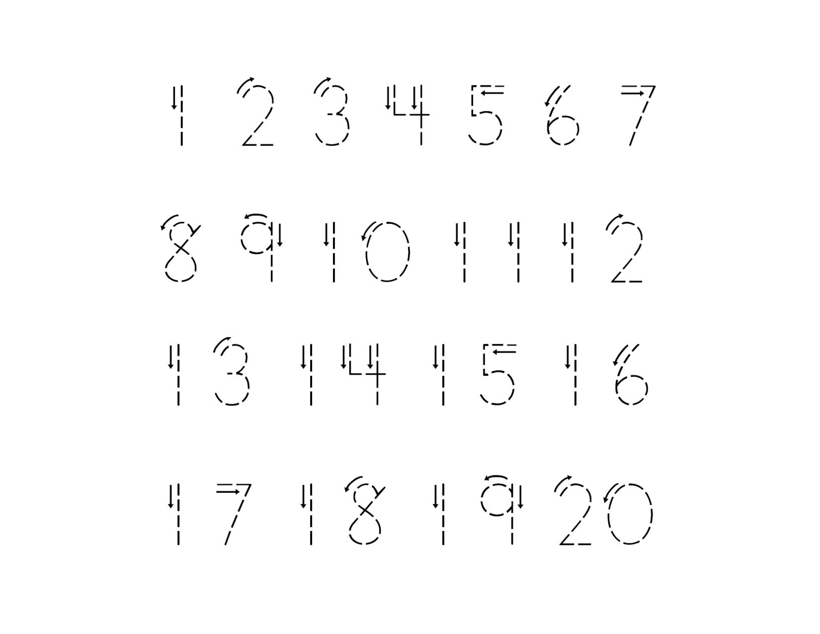 Traceable Numbers 1 10 For Kindergarten Kids