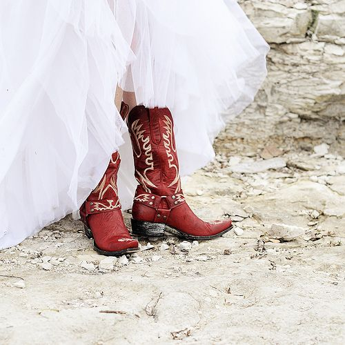 Wedding Shoes Cowgirl Boots Bride Boots Red Cowboy Boots
