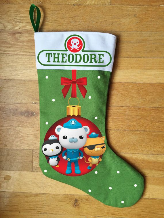 Octonauts Christmas Stocking Personalized and Hand by LabelMyBaby ...