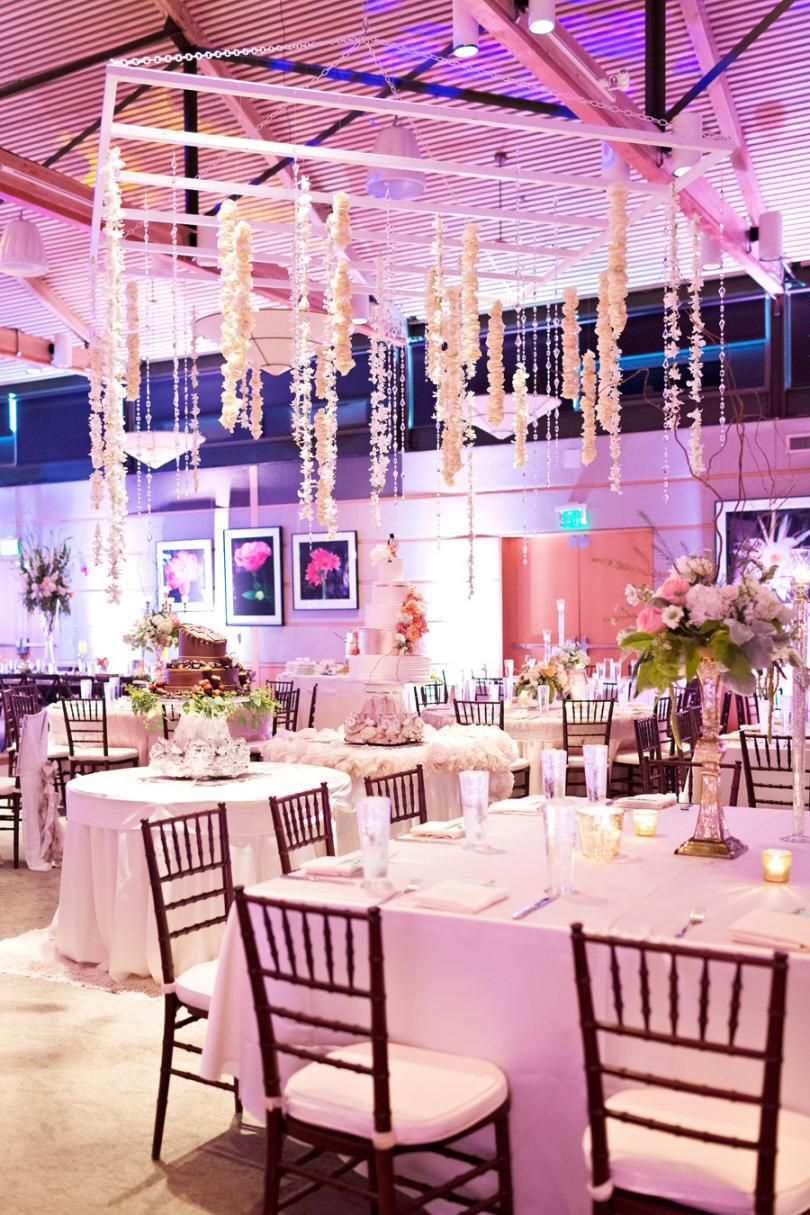 Perfect indoor reception at the Rosine Hall in the Dallas Arboretum ...