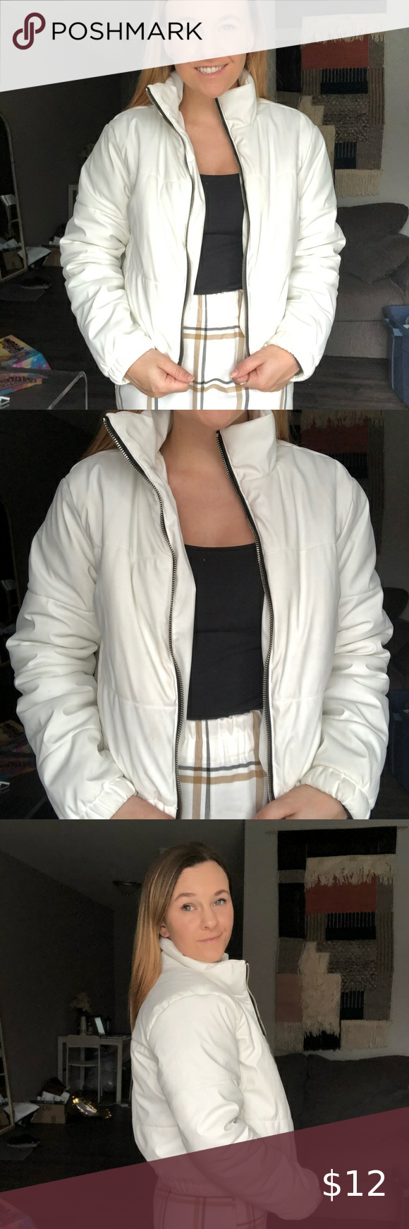 Wild Fable White Puffer Jacket White Puffer Jacket Early Spring Outfits Jackets [ 1740 x 580 Pixel ]