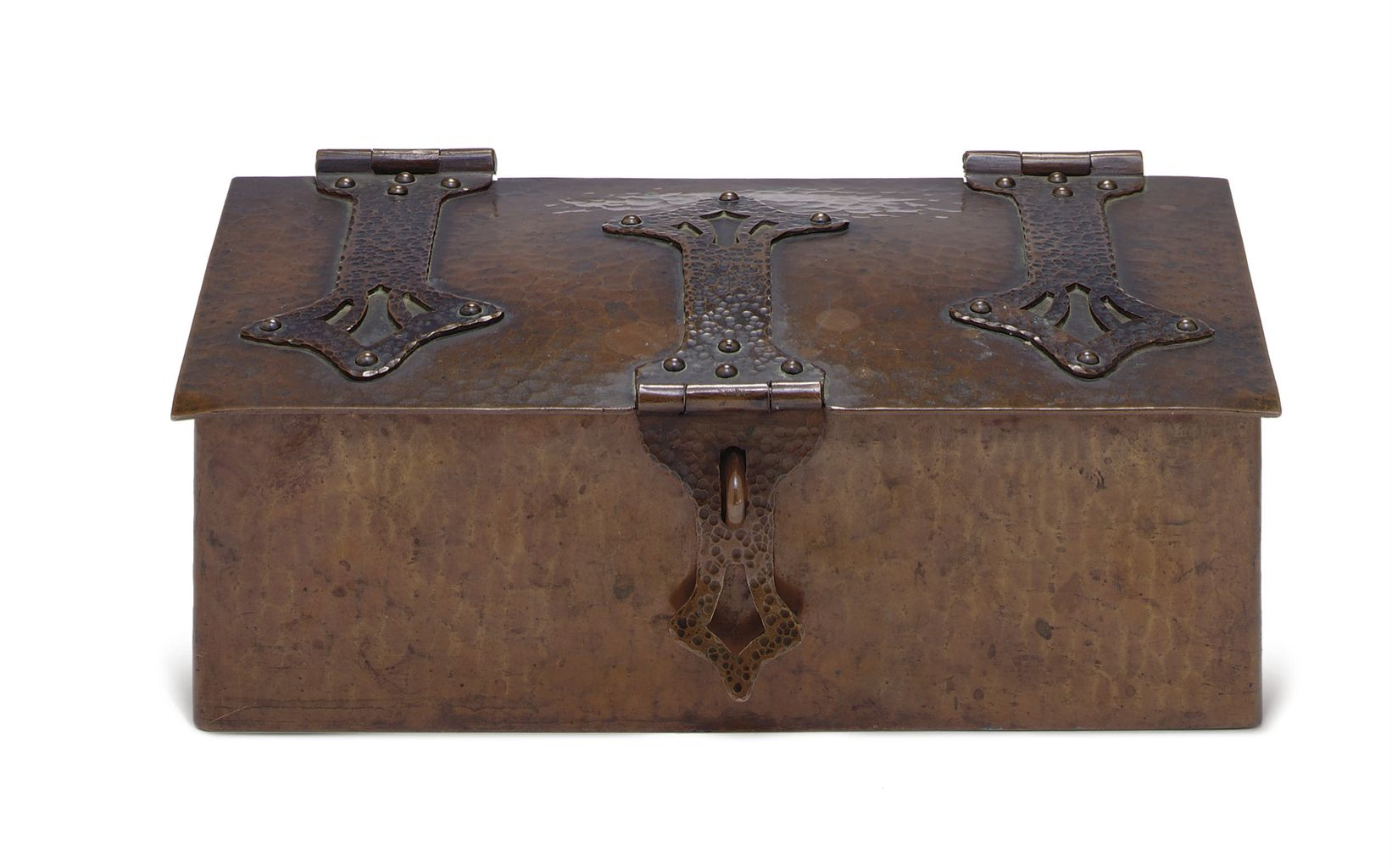 DIRK VAN ERP (1860-1933) | A PATINATED COPPER BOX, CIRCA 1900
