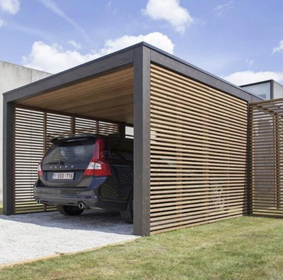 Pergolas Y Garajes Para Coches Y Motos Con Madera Diseños De Cochera Pérgola Para Garaje Planos De Pérgola