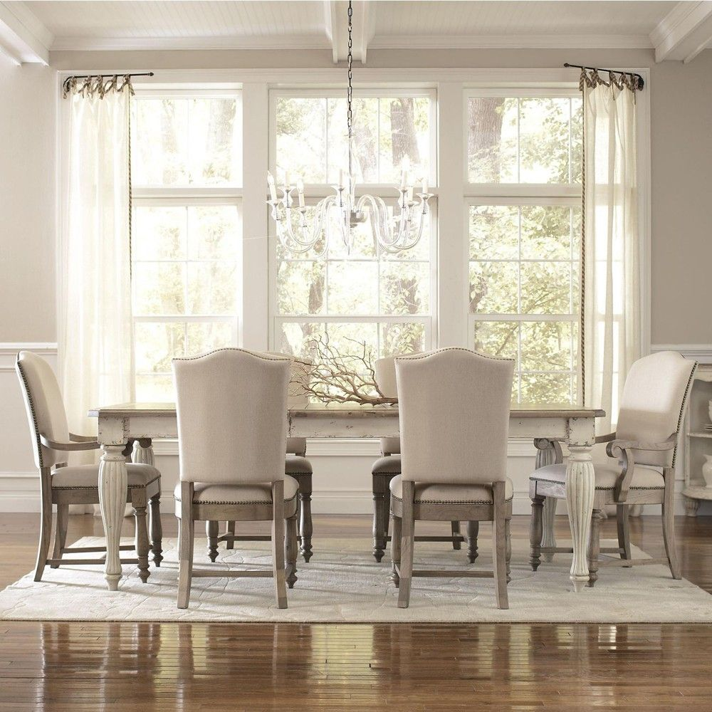 Coventry Rectangular Dining Table In Weathered Driftwood By Riverside  Furniture