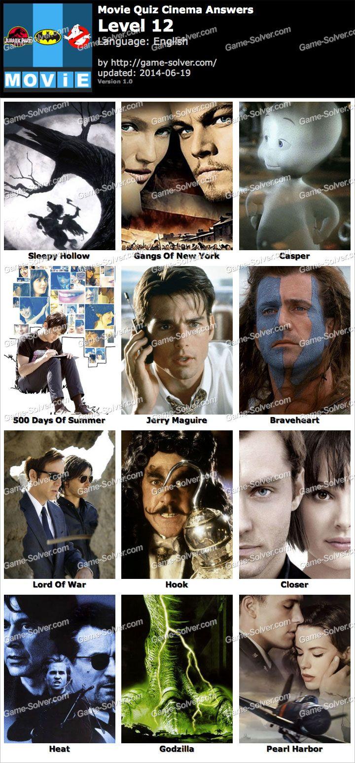 Movie Quiz Cinema Level 12 | Movie quiz | Movies, Movie