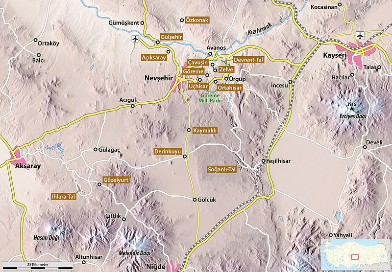 Map of Cappadocia Out n About