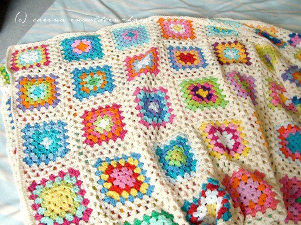 Granny Square Blanket | Christmas | Pinterest | Square und Häkeln