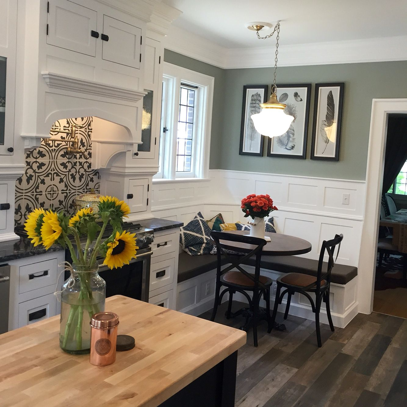 Bishop Kitchen Reno - 1926 Tudor, Sherwin Williams - Escape Gray ...