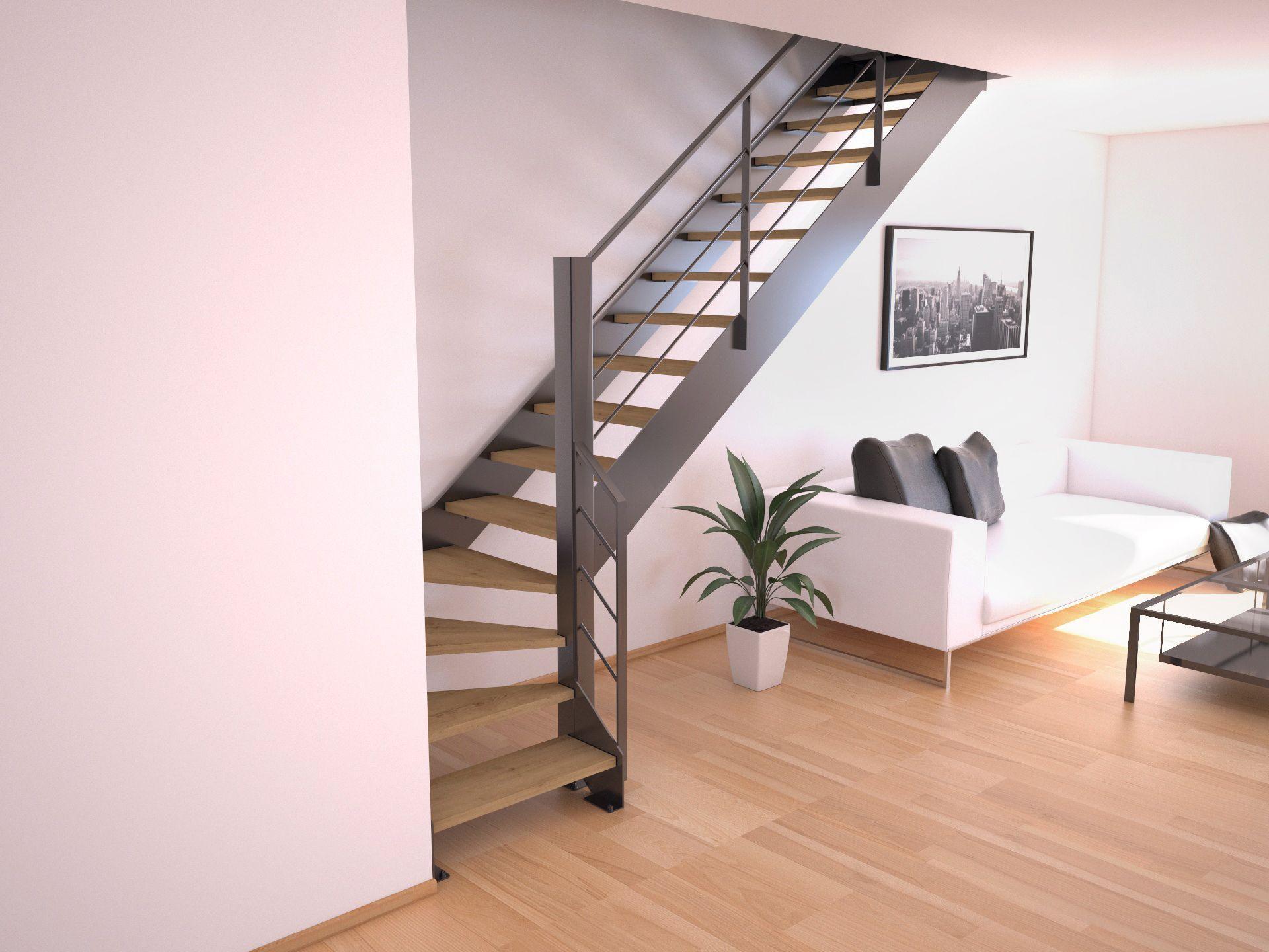 Escalier Double Limons Pas Cher En Haute Loire Escalier Quart