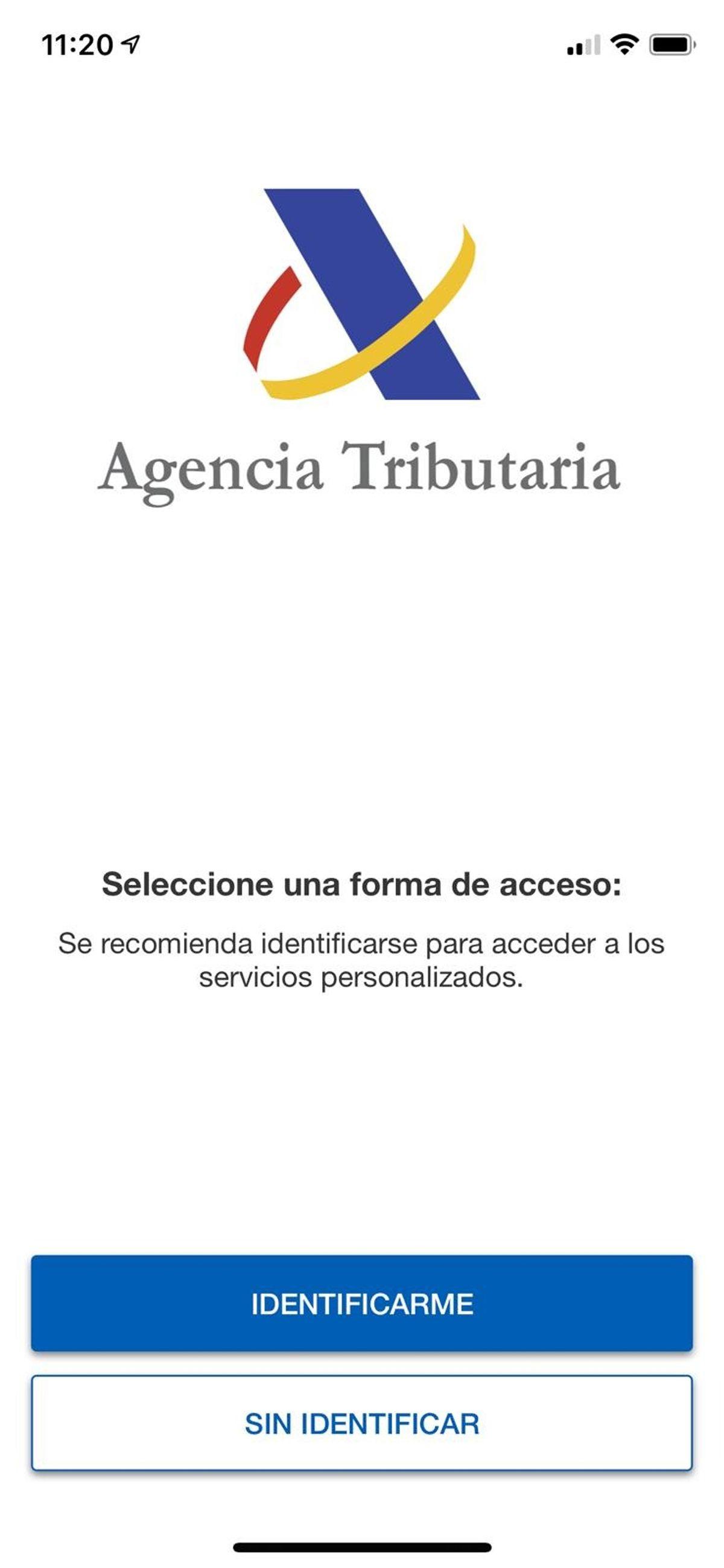 aplicación de la Agencia Tributaria