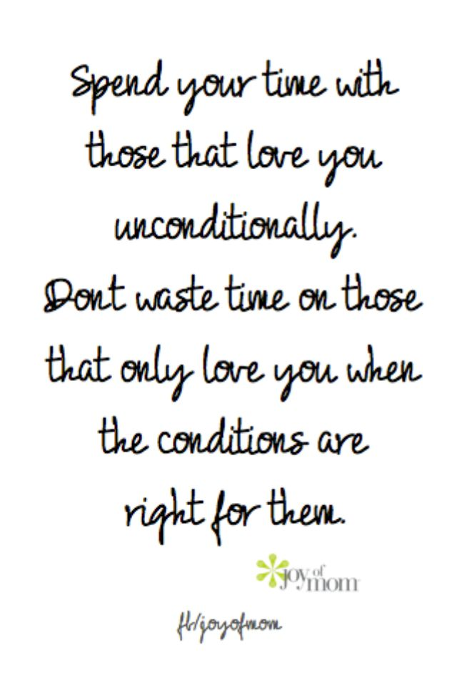 Why you shouldnt hold out unconditional love