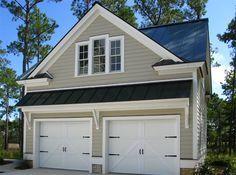 Garage doors should always recede, thus should be a darker shade ...