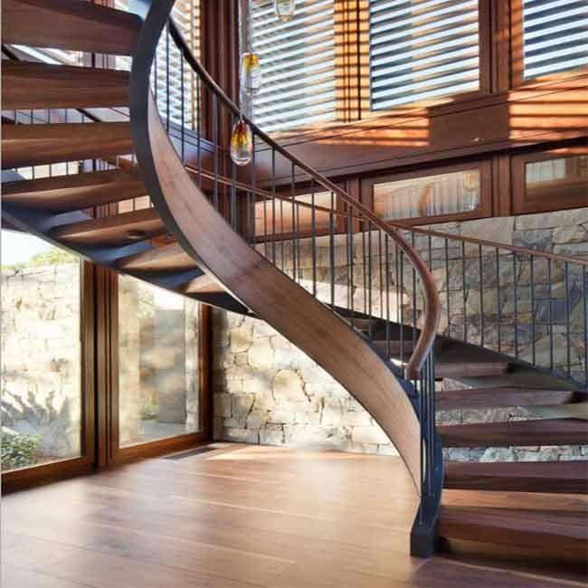Best Modern Villa Luxury Indoor Wooden Stairs Stairs Design 400 x 300