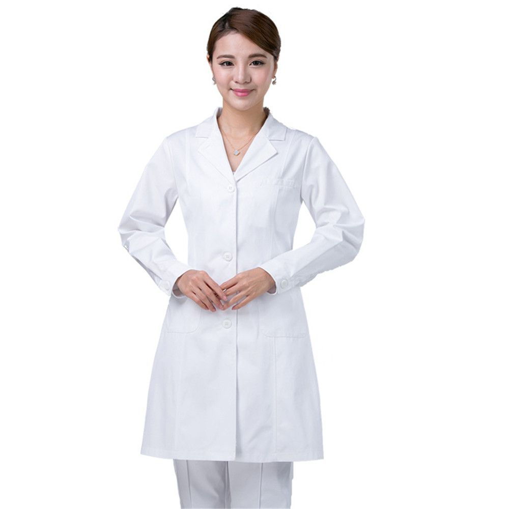 Medical clothes scrubs lab coat Long sleeves for women medical ...