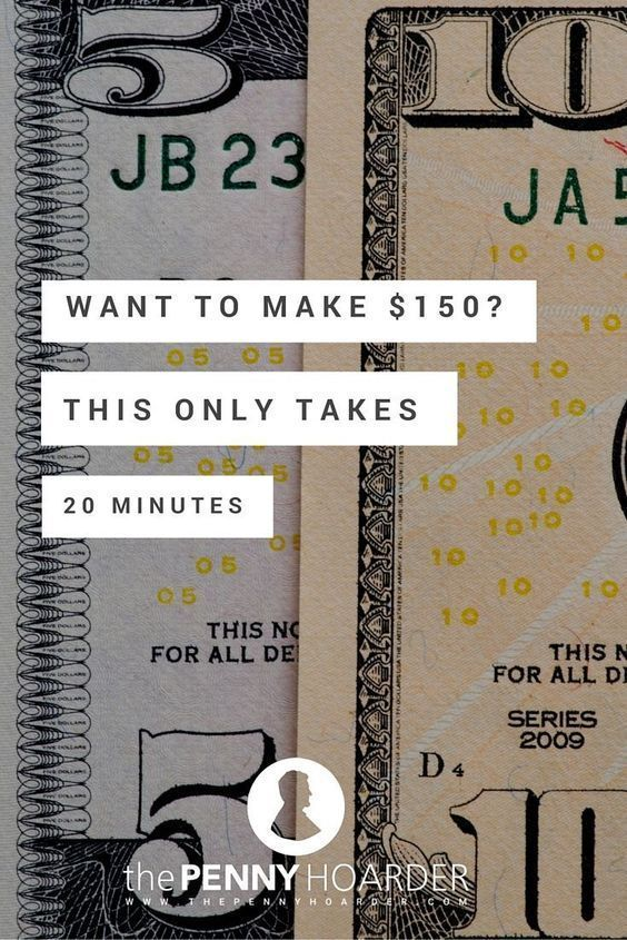 Want to Make $150? This Only Takes 20 Minutes   Earn Extra Money   How to make money, Money, How ...