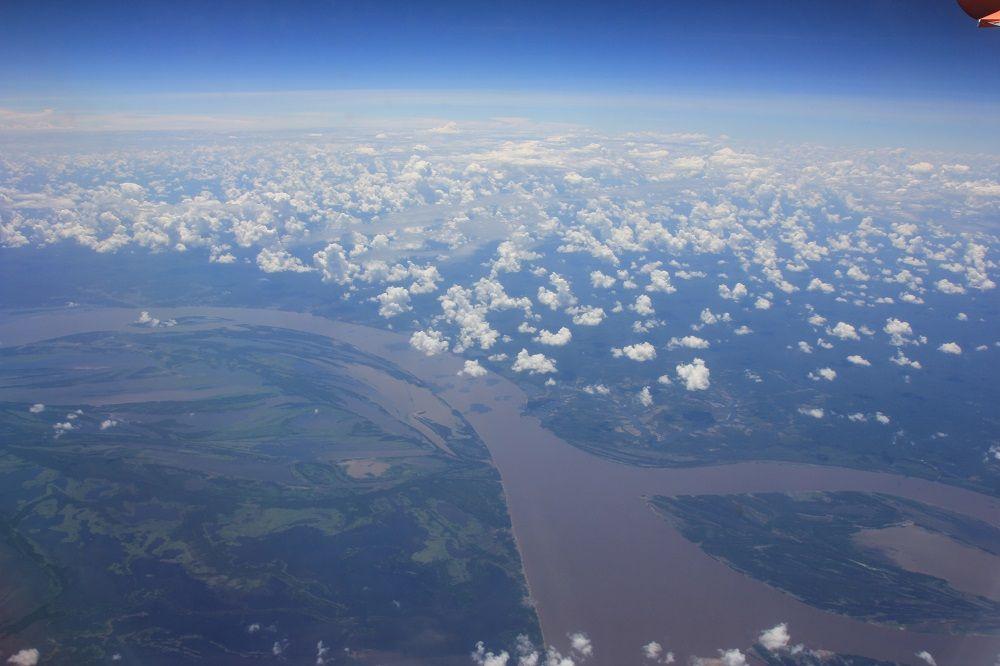 南米アマゾン川の上空写真 南米 風景 熱帯魚