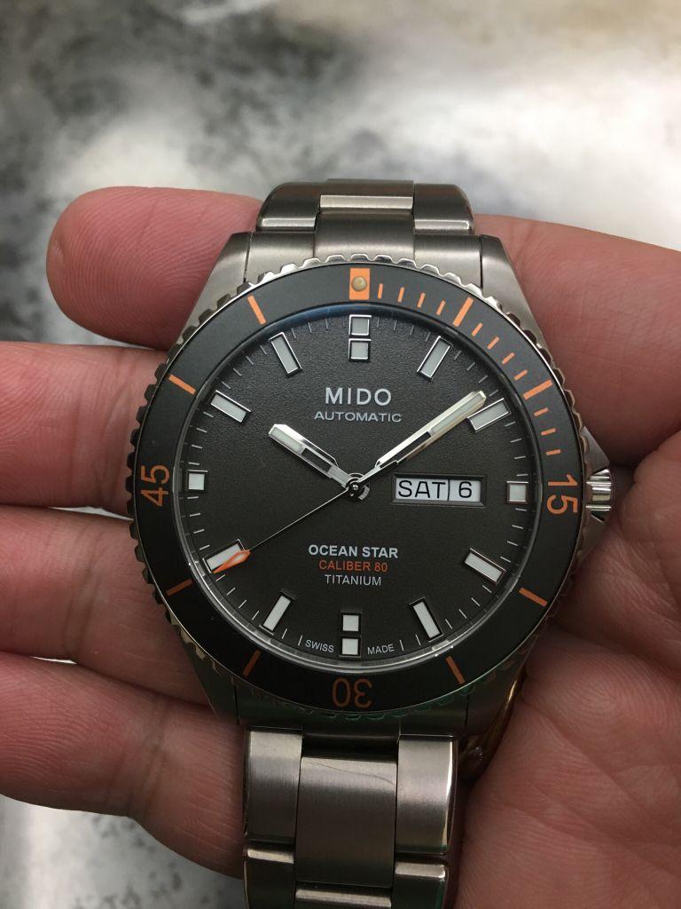 d9e095ac4f0 Mido Ocean Star Captain V Titanium Projetos