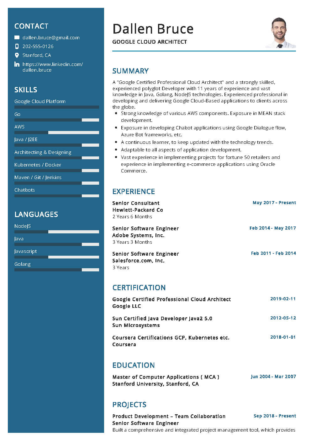 The Most Recommended Professional Google Cloud Architect Sample Resume This Sample Resume Comes With Architect Resume Resume Examples Architect Resume Sample