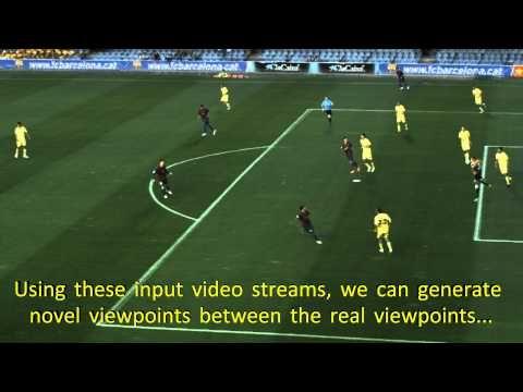 Virtuele voetbalcamera. Met de computergestuurde, virtuele camera kan de regisseur vrij bewegen rond het veld om zo iedere spelsituatie steeds vanuit de meest optimale hoek in beeld te brengen. Maar hij kan ook het beeld bevriezen en rondcirkelen om bijvoorbeeld een buitenspelsituatie of voorzet te analyseren.