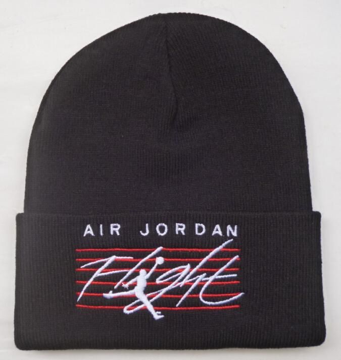 Men s   Women s Nike Air Jordan Jumpman Air Jordan Flight Cuff Beanie Hat -  Black   White  Red 26847bab8b2