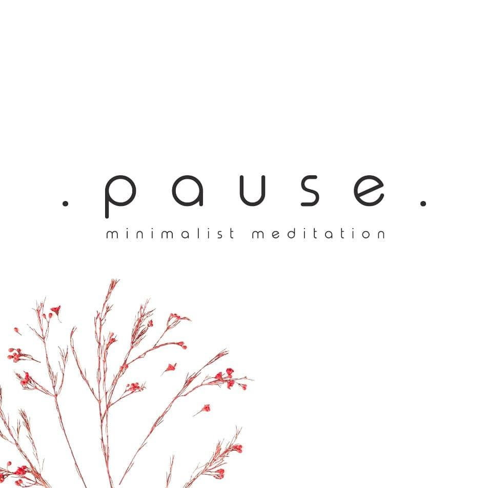 Pause. Minimal meditation logo design. https://www.fiverr