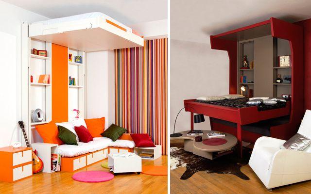 Camas en alto para espacios peque os fotos pinterest - Camas dobles infantiles para espacios reducidos ...