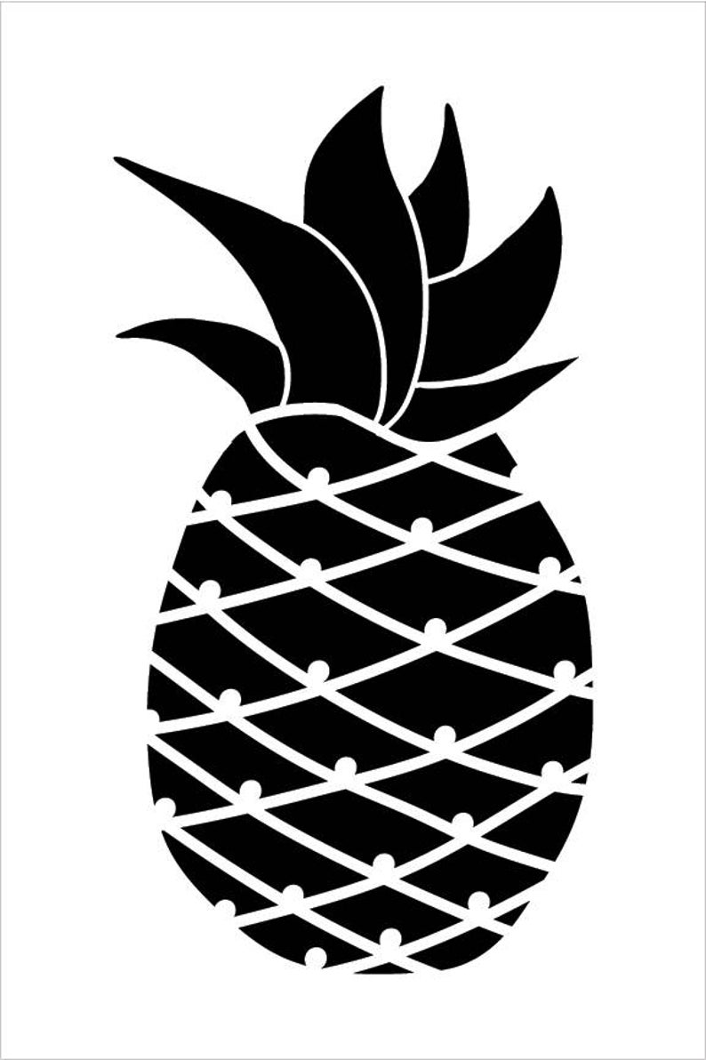 Pineapple Art Stencil Select Size STCL2116 by   Etsy ...  Cute Pineapple Stencil