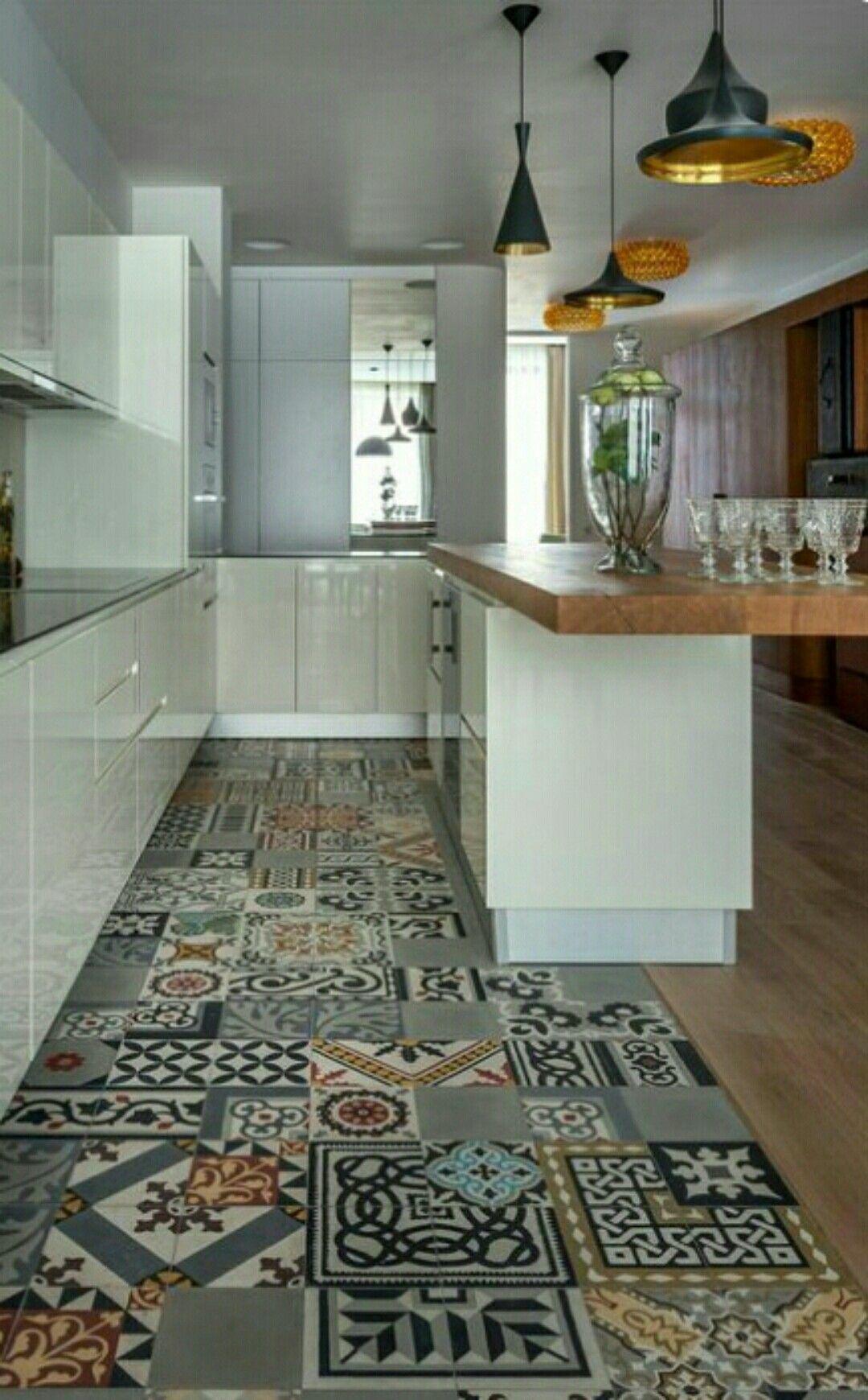 Pinj Lea On Bhome  Pinterest Fair Kitchen Flooring Design Inspiration Design