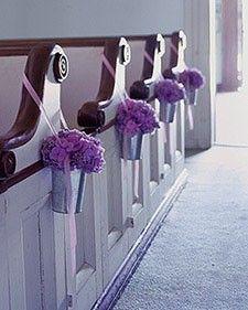 Church Pew Decorating Wedding Pews Diy Wedding Decorations
