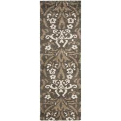 Ultimate Smoke/ Beige Shag Rug (2'3 x 7') | Overstock.com Shopping - Great Deals on Safavieh Runner Rugs