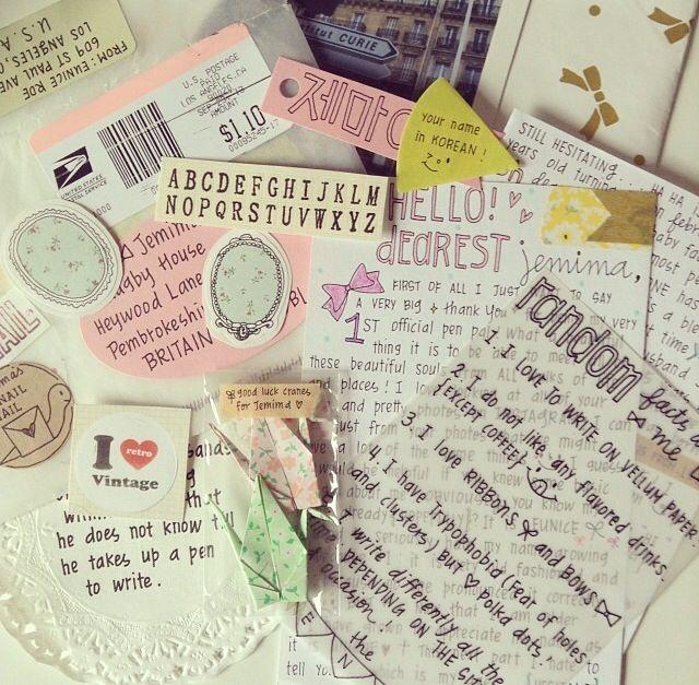 Snail mail, happy mail ephemera