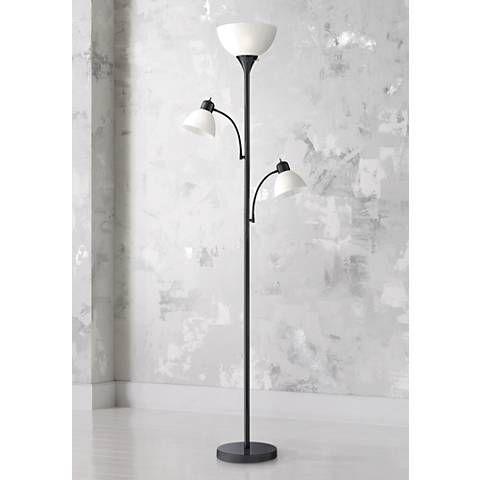 Bingham Black Tree Torchiere 3 Light Floor Lamp 1y323 Lamps Plus In 2020 Torchiere Floor Lamp Lamp Floor Lights