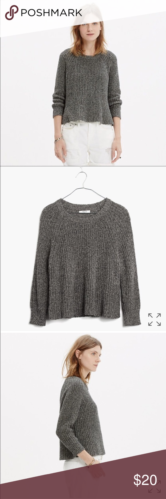Marled swing crop sweater | Cropped sweater, Shape and Madewell