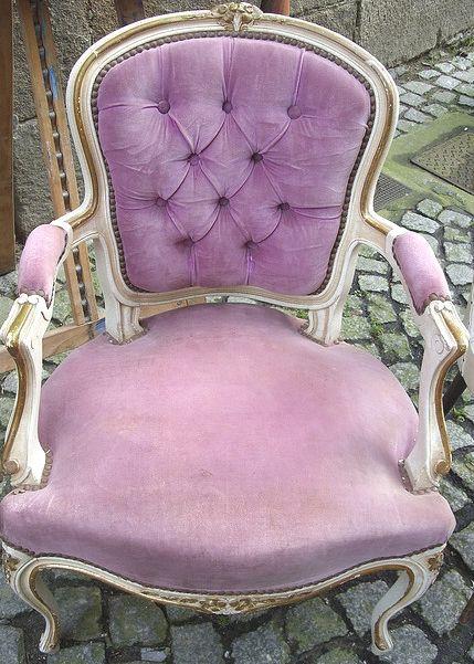A lavender French velvet chair...  cd20329ac4