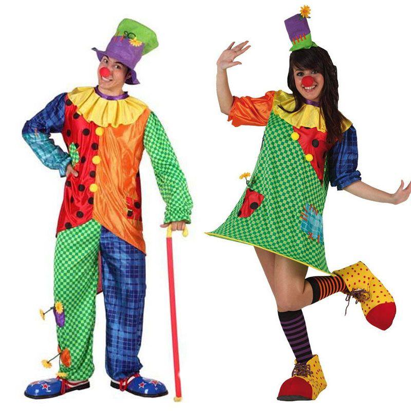 Pareja disfraces de payasos parejas disfraces carnaval - Difraces para carnaval ...